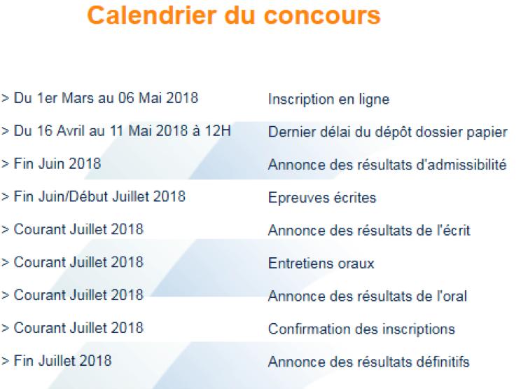 0b42f92dd3c332 Les dates précises du concours et de l annonce des résultats seront  publiées au fur et à mesure de l avancement dans le processus de sélection.